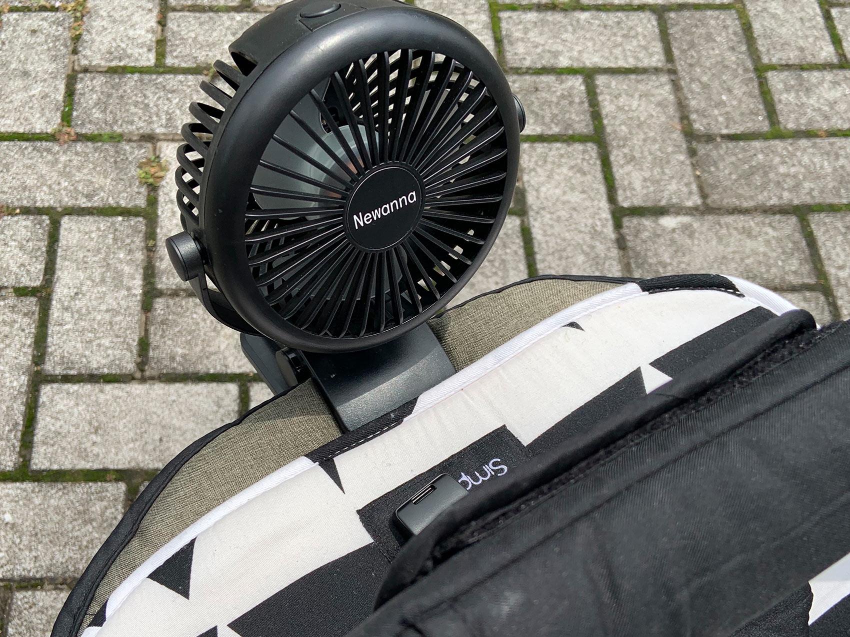 充電式扇風機 装着例