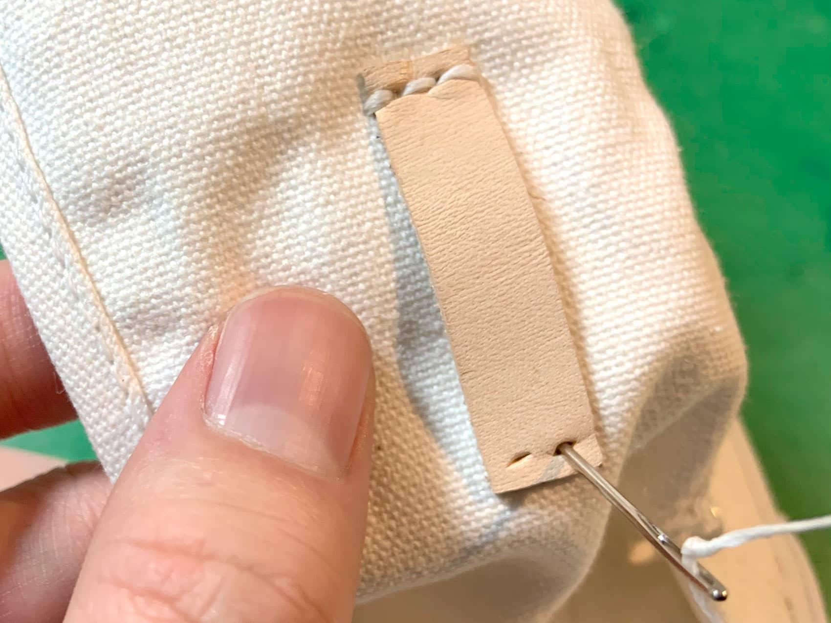 縫っているところ