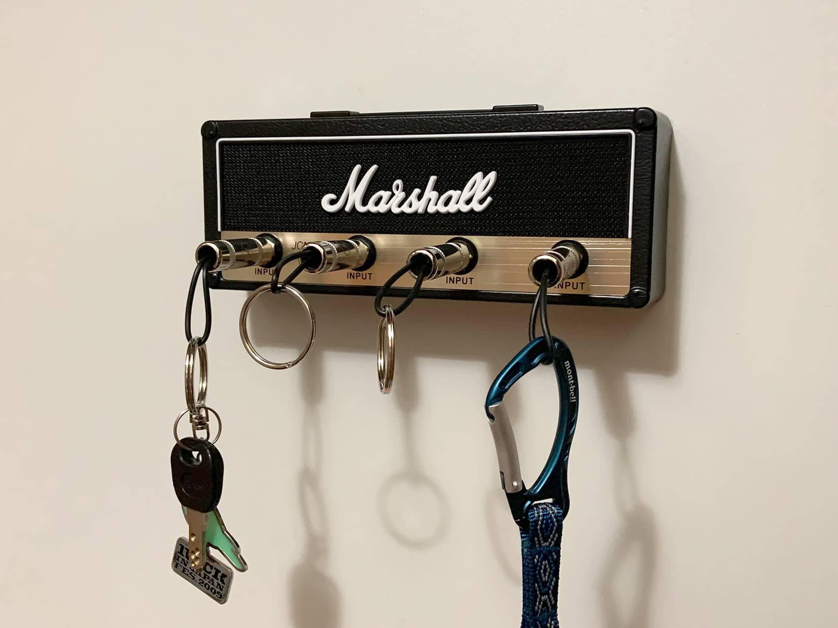 Marshall風キーラック取付完了(鍵差し込み状態)