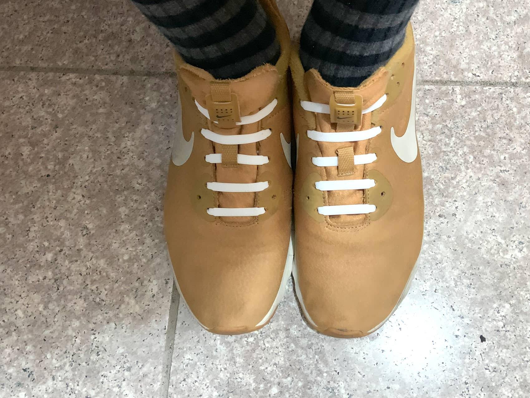DAISO「結ばない靴紐」履いてみた所